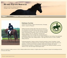 website setup and hosting services for equine related businesses of Meredith Manor graduates