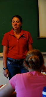 A student in a teaching career emphasis area course.