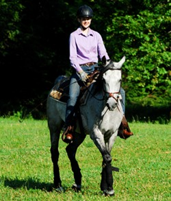 A student in the Riding Master program